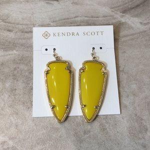 Kendra Scott Yellow Skylar Arrowhead Earrings